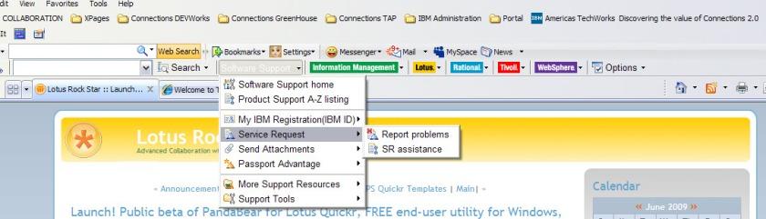 IBM Tool bar